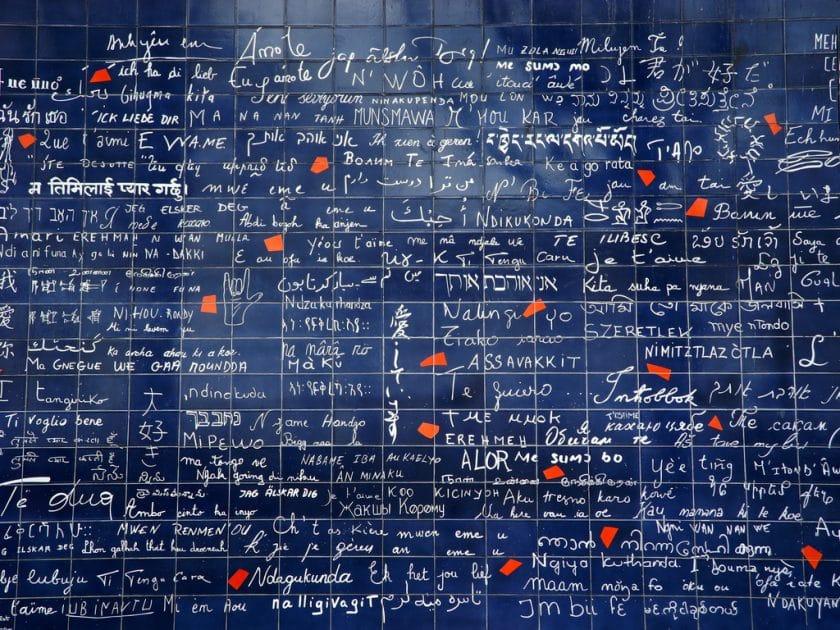 Mur des Je T'aimes, no Place des Abesses, Paris