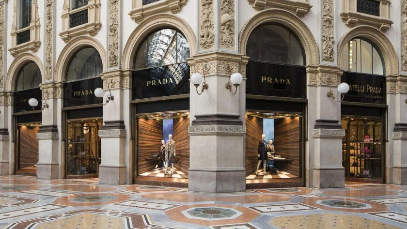 Loja da Prada na Galleria Vittorio Emanuele - Milão, Itália
