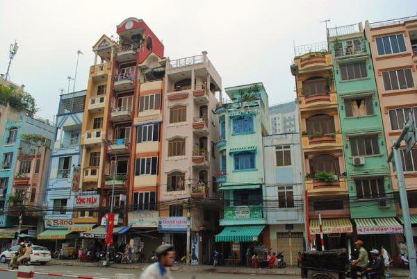 As casas em Hanoi, Vietnã