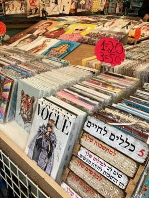 HaCarmel, o maior mercado de Tel-Aviv, em Israel