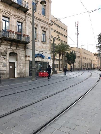 Jerusalém Light Rail, transporte público de Jerusalém.