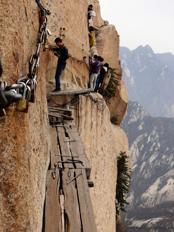 Montanha Huashan na China - Trilha