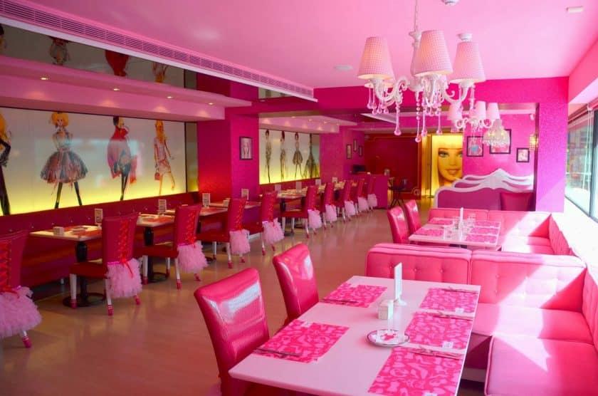 Restaurantes Cor de Rosa - Barbie Café