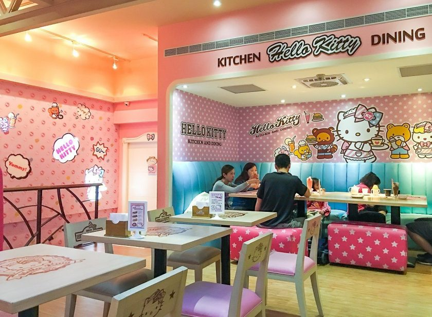 Restaurantes Cor de Rosa - Hello Kitty Cafe